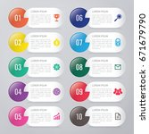 infographic template 10 options   Shutterstock .eps vector #671679790
