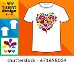 template t shirt with an trendy ... | Shutterstock . vector #671698024