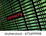 wanna cry virus computer... | Shutterstock . vector #671699908