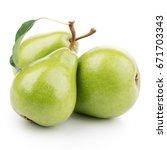 pears on white background | Shutterstock . vector #671703343