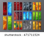 templates of vertical web... | Shutterstock .eps vector #671711524