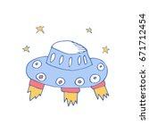 vector cartoon illustration... | Shutterstock .eps vector #671712454