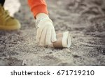 Volunteer Picking Up Litter...