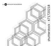 hexagonal business pattern.... | Shutterstock .eps vector #671720218