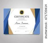 certificate template   modern