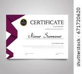 certificate template   modern... | Shutterstock .eps vector #671720620