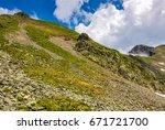 Edge Of Steep Slope On Rocky...