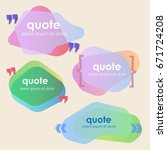 set of creative quote bubble... | Shutterstock .eps vector #671724208