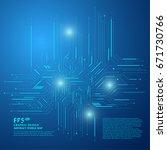 technological vector background ... | Shutterstock .eps vector #671730766