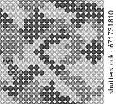 monochrome camouflage. vector... | Shutterstock .eps vector #671731810