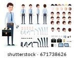 male clerk character creation... | Shutterstock .eps vector #671738626