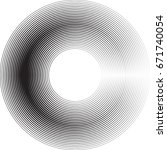 lines in circle form . spiral... | Shutterstock .eps vector #671740054