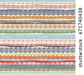 ethnic seamless pattern. tribal ... | Shutterstock . vector #671740438