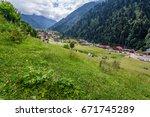ayder plateau  rize  turkey.the ... | Shutterstock . vector #671745289
