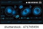 futuristic virtual graphic... | Shutterstock .eps vector #671745454