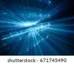 abstract blue background...   Shutterstock . vector #671745490