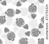 seamless vector pattern of hand ... | Shutterstock .eps vector #671752324