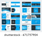 collection of double sided... | Shutterstock .eps vector #671757904