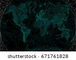 polygonal map  illustrating... | Shutterstock .eps vector #671761828