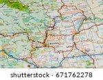 us atlas closeup   Shutterstock . vector #671762278