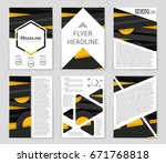 abstract vector layout... | Shutterstock .eps vector #671768818