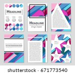 abstract vector layout... | Shutterstock .eps vector #671773540
