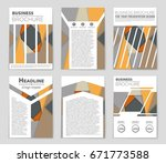 abstract vector layout... | Shutterstock .eps vector #671773588