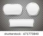 set of buttons with chrome... | Shutterstock .eps vector #671773840