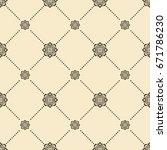 seamless beige pattern with... | Shutterstock .eps vector #671786230