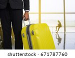 businessman and suitcase in the ... | Shutterstock . vector #671787760