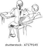 boy and girl pupils | Shutterstock .eps vector #67179145
