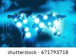technology network business... | Shutterstock . vector #671793718