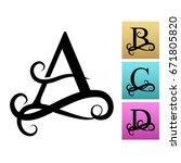 capital letter for monograms... | Shutterstock .eps vector #671805820