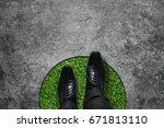 comfort zone concept ... | Shutterstock . vector #671813110