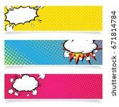 background pop art explosion... | Shutterstock .eps vector #671814784