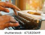 Selective Focus Writer Typing...