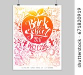 vertical back to school poster... | Shutterstock .eps vector #671820919