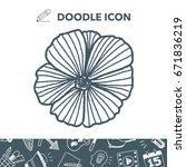 flower doodle   Shutterstock .eps vector #671836219