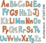 multicolored alphabet. giant... | Shutterstock .eps vector #671837188