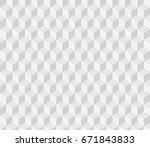 white isometric seamless... | Shutterstock .eps vector #671843833