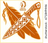 american indian vector logos | Shutterstock .eps vector #671849446