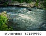 rapids   Shutterstock . vector #671849980