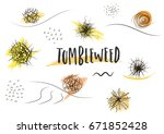 vector set of hand drawn black... | Shutterstock .eps vector #671852428