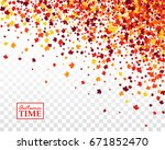 autumn time background with... | Shutterstock .eps vector #671852470