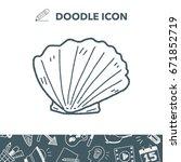 shell doodle | Shutterstock .eps vector #671852719
