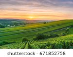scenic landscape in the... | Shutterstock . vector #671852758
