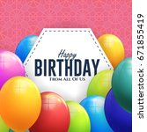 happy birthday concept... | Shutterstock .eps vector #671855419