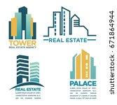 simple real estate emblems | Shutterstock .eps vector #671864944