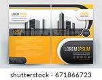 vector brochure layout  flyers... | Shutterstock .eps vector #671866723
