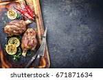 Barbecue Leg Of Lamb With...